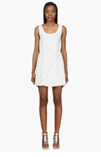 MAIYET White Text Graphic Dress for women
