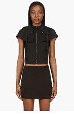 MM6 MAISON MARTIN MARGIELA Black Removable Hood & Capelet Vest for women