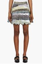 KENZO Black & Turquoise Neoprene Scribble Skirt for women