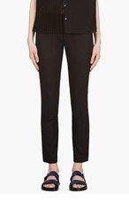 VERONIQUE BRANQUINHO Black Cropped Classic Trousers for women