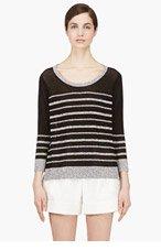 RAG & BONE Black & Grey Striped Azra Sweater for women