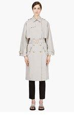 VERONIQUE BRANQUINHO Grey Kimono Sleeve Trench Coat for women