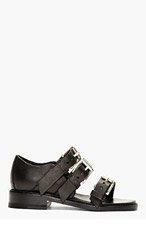 RAG & BONE Black Leather Hudson Sandals for women