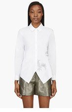 MAIYET White Metal-embroidered blouse for women