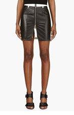 MCQ ALEXANDER MCQUEEN Black & White Leather-paneled Skirt for women
