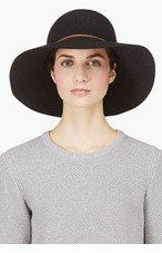 RAG & BONE Black Wool Dunaway Hat for women