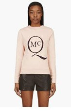 MCQ ALEXANDER MCQUEEN Dusty Rose Inset Lace Logo Sweater for women