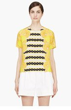 MOTHER OF PEARL Yellow Silk Citrus Blouse for women