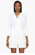 MAIYET White Tie Gathered Jacket for women