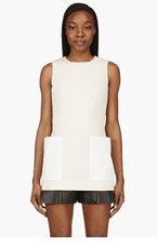 ALEXANDER MCQUEEN Beige & White Canvas Long Blouse for women