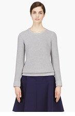 RAG & BONE Grey Knit Rita's Boyfriend Sweater for women