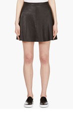 MACKAGE Black Lambskin Violca Skirt for women