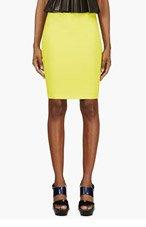 MCQ ALEXANDER MCQUEEN Chartreuse Stretch Pencil Skirt for women