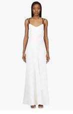 MAIYET Ivory linen pillar dress for women