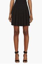 ALEXANDER MCQUEEN Black Pleated Skirt for women