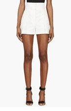 THOM BROWNE White Rope & Anchor Mariner Shorts for women