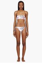 CHRISTOPHER KANE Pink Poppy Diagram Bandeau Bikini for women