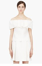 MOTHER OF PEARL Ivory Waffle Cotton Siret Bandeau Top for women