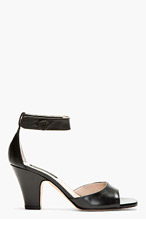 MARC JACOBS Black Leather RECANATI Heels for women