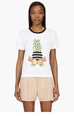 MOTHER OF PEARL White Embellished Fruit T-Shirt for women