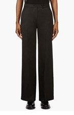 YANG LI Black Tie-Belt Pillar trousers for women