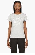 MAISON KITSUNE Heather Grey & White Logo t-shirt for women