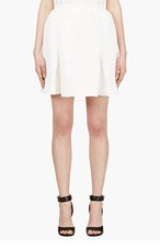 MOTHER OF PEARL Ivory Waffle Cotton Cooper Skirt for women