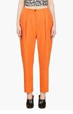 MUGLER Orange Low Waist Oversize Trousers for women