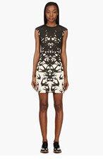MCQ ALEXANDER MCQUEEN Black & Peach Swallow Print Sheath Dress for women