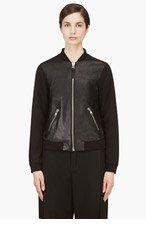 MACKAGE Black Lambskin Jennifer Bomber Jacket for women