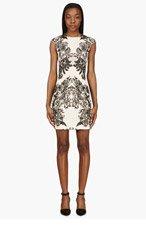 MCQ ALEXANDER MCQUEEN Peach Lace Print Sheath Dress for women