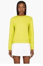 MCQ ALEXANDER MCQUEEN Chartreuse Crewneck Sweater for women