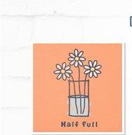 Women's Half Full Flowers Crusher Tee