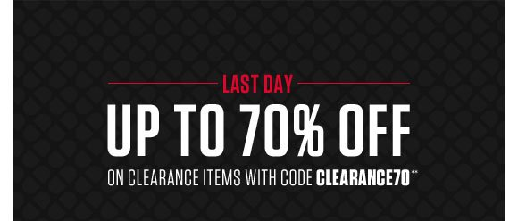 Up to 70% off on clearance items with code CLEARANCE70 Ends 3/27