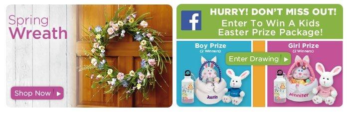 Spring Flower Wreath & Facebook Contest