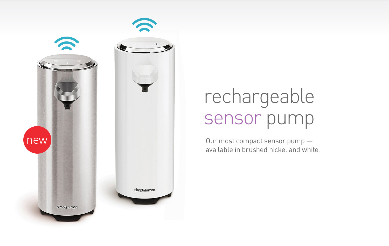 rechargeable sensor pump