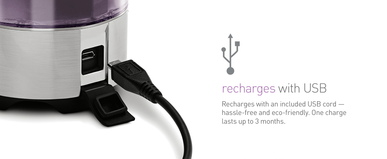 recharges with USB