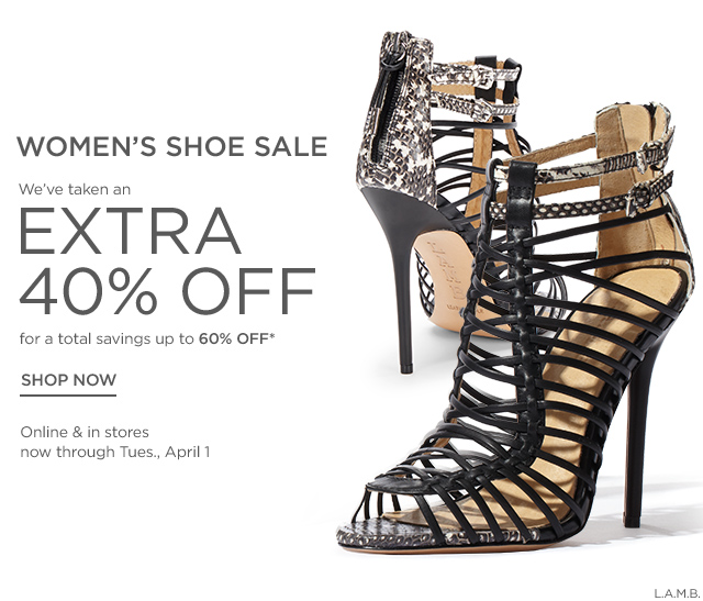 Up to 60% Off Women's Shoe Sale