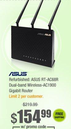 Refurbished: ASUS RT-AC68R Dual-band Wireless-AC1900 Gigabit Router