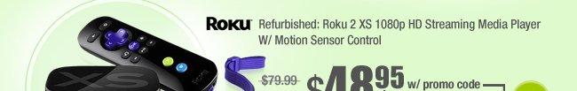 Refurbished: Roku 2 XS 1080p HD Streaming Media Player W/ Motion Sensor Control