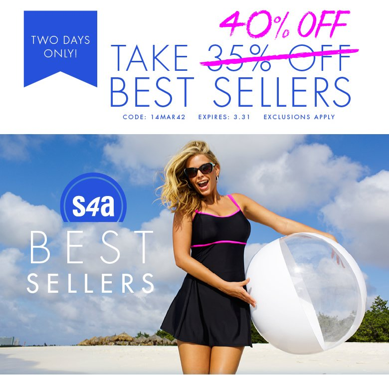 Two Days Only: Take 40% OFF Best Sellers