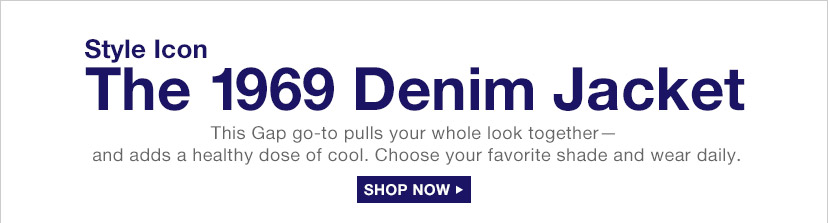 Style Icon | The 1969 Denim Jacket | SHOP NOW