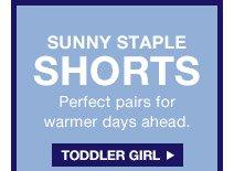 SUNNY STAPLE SHORTS | TODDLER GIRL