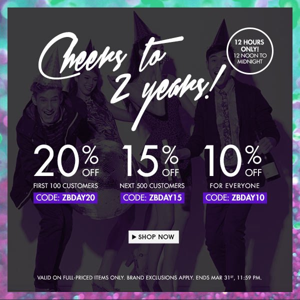 1st 100 customers get 20% off!