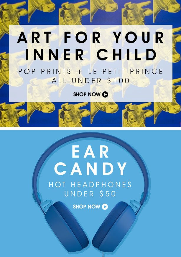 Art for Your Inner Child and Hot Headphones