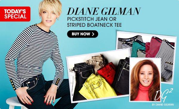 DG2 by Diane Gilman Pick Stitch Classic Denim Boot-Cut Jeans