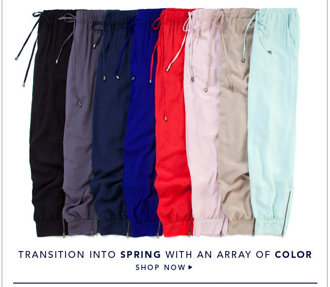 Transition Into Spring With An Array Of Color