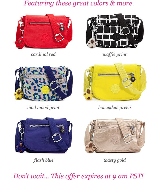 Offers not valid at Kipling Retail or Outlet stores. Receive free ground  shipping on all orders of  75 or more made now through April 12 4cb6aaf2827f0
