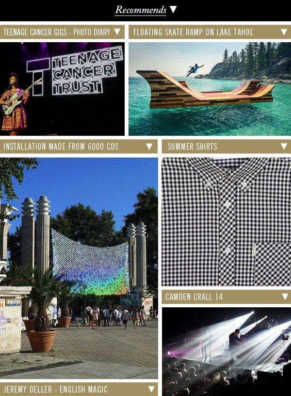Teenage Cancer Gigs - Photo Diary | Floating Skate Ramp | Installation Made From 6000 CDs | Summer Shirts | Camden Crall 14 height=