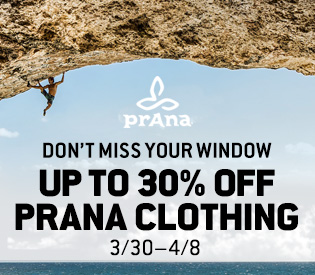 Up to 30% Off prAna Clothing